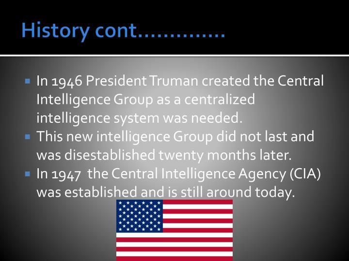 History cont…………..