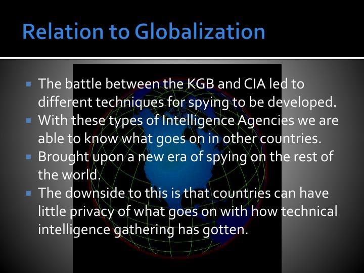Relation to Globalization