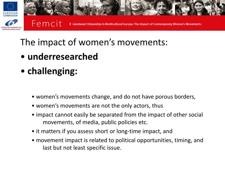 The impact of women's movements: