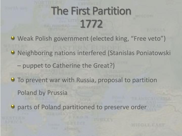 The first partition 1772