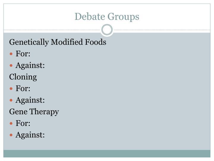 Debate Groups