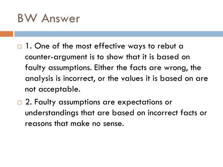 BW Answer