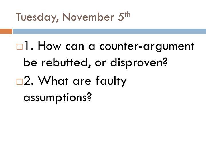 Tuesday, November 5
