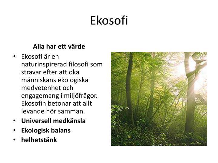 Ekosofi