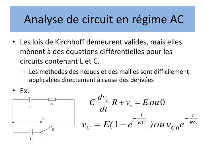 Analyse de circuit en régime AC