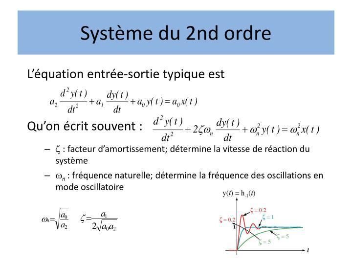Système du 2nd ordre