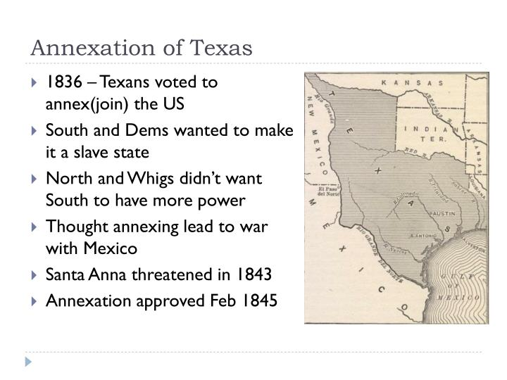 texas and california annexation The eastern boundary of the mexican cession was the texas claim at the rio grande and extending north from the headwaters of the jojo rivera, not corresponding to mexican territorial boundaries the southern boundary was set by the treaty of guadalupe hidalgo, which followed the mexican boundaries between alta california (to the north) and baja .