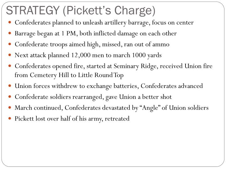 STRATEGY (Pickett's Charge)