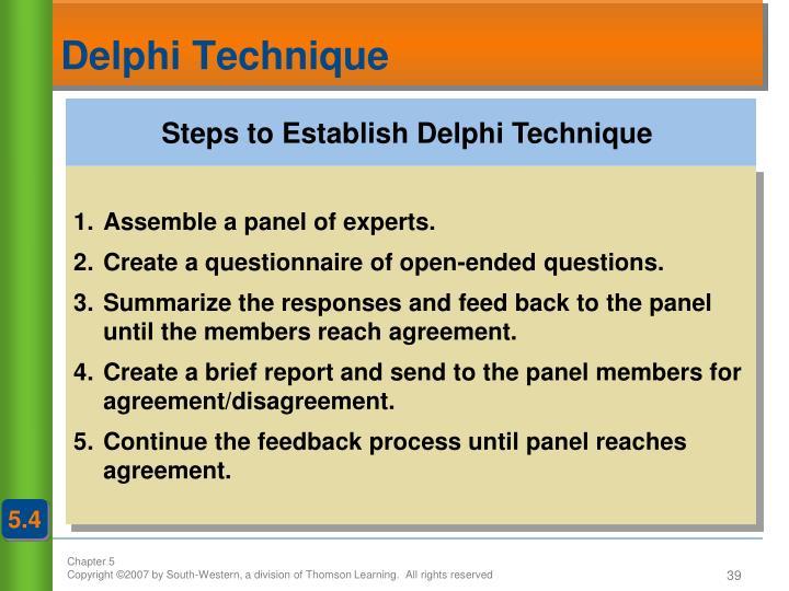 Steps to Establish Delphi Technique