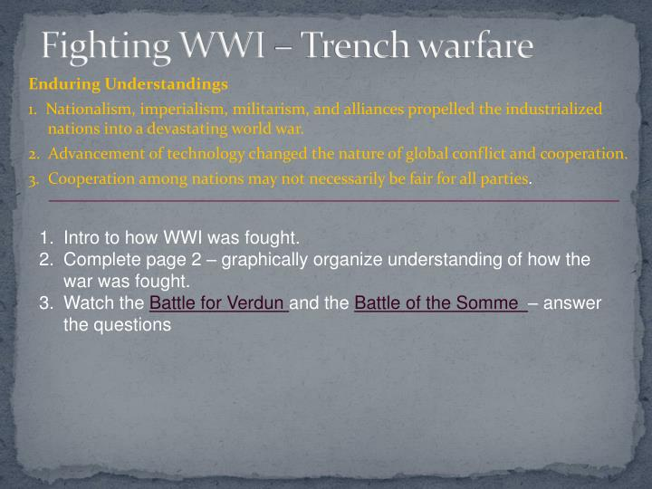 Fighting wwi trench warfare