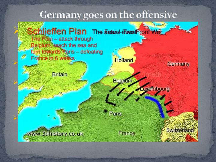 Germany goes on the offensive