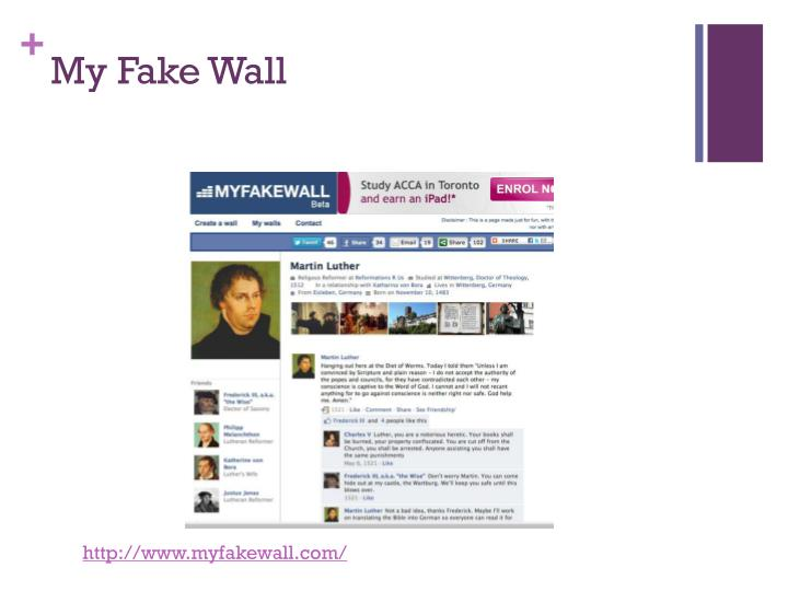 My Fake Wall