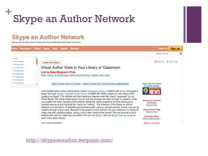 Skype an author network