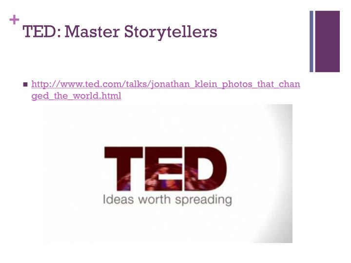 TED: Master Storytellers