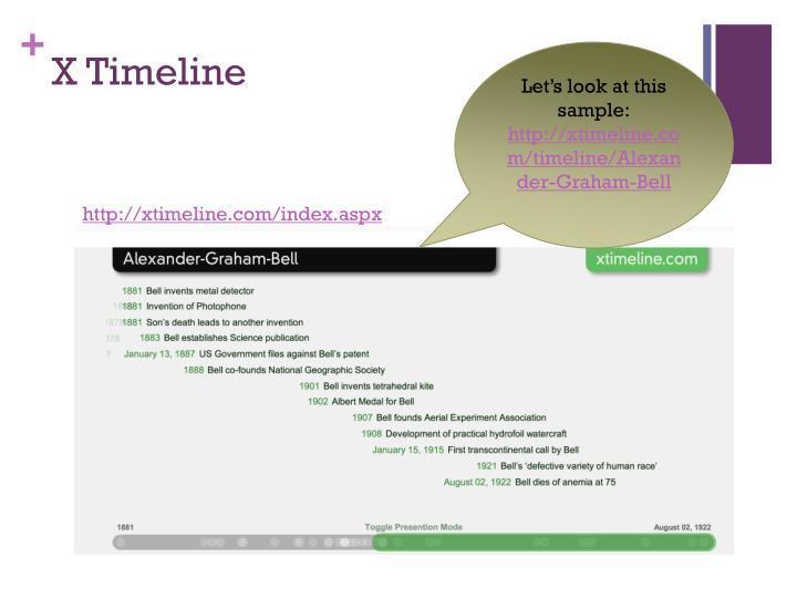 X Timeline