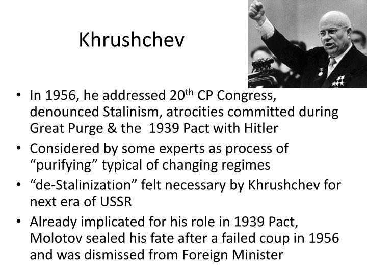 """The Khrushchev """"thaw"""" (1953-1964)"""