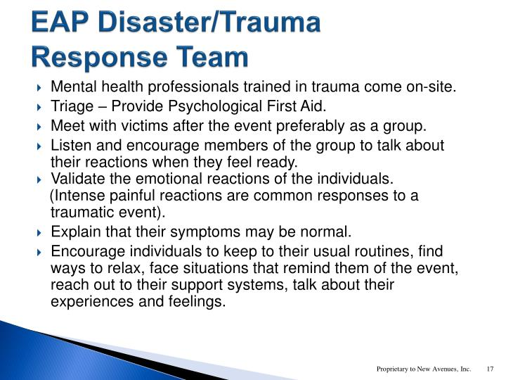 EAP Disaster/Trauma