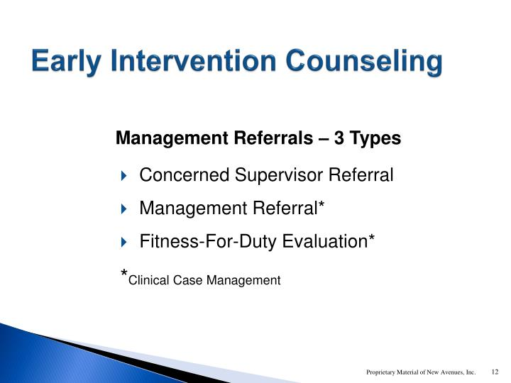 Early Intervention Counseling