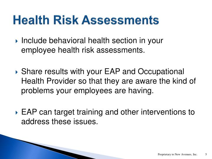 Health Risk Assessments