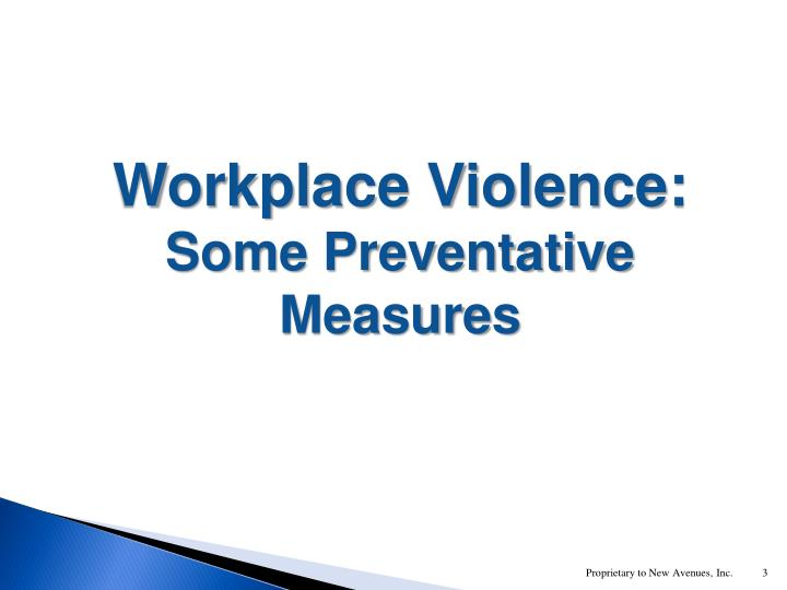 Workplace Violence: