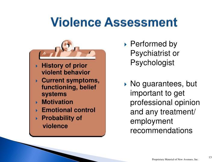 Violence Assessment