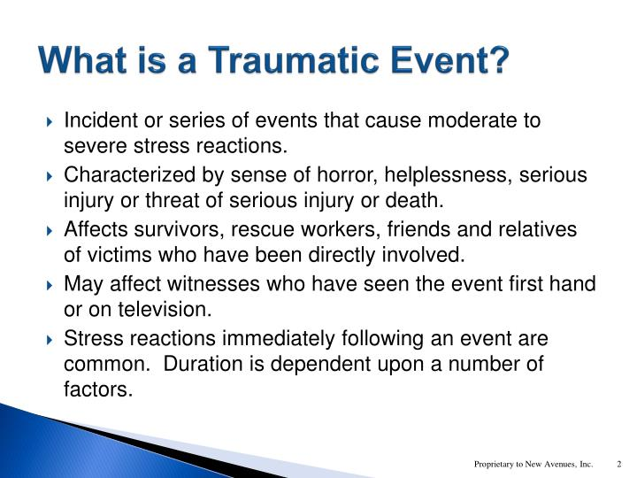 What is a Traumatic Event?
