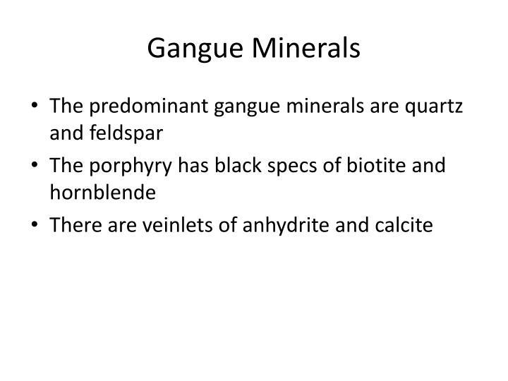 Gangue Minerals