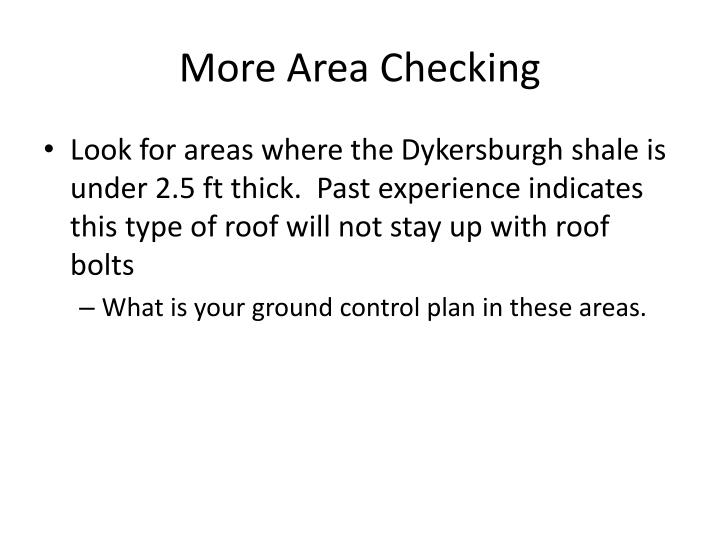 More Area Checking