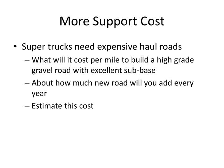 More Support Cost