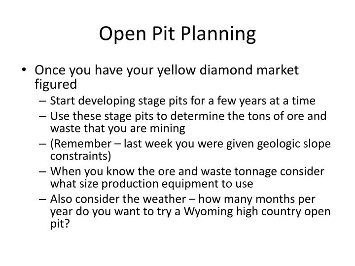 Open Pit Planning