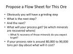 propose a flow sheet for this ore