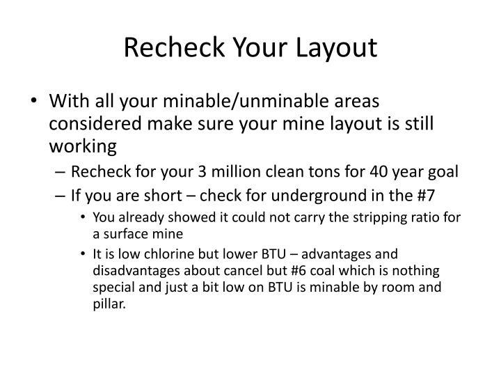 Recheck Your Layout