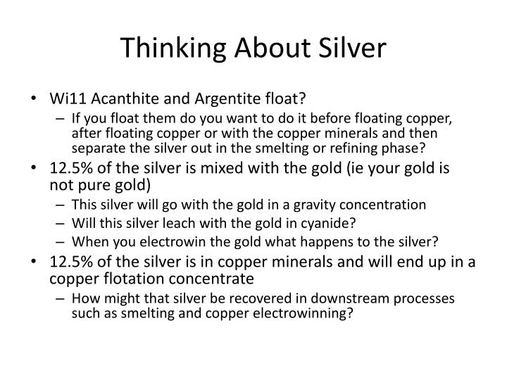 Thinking About Silver