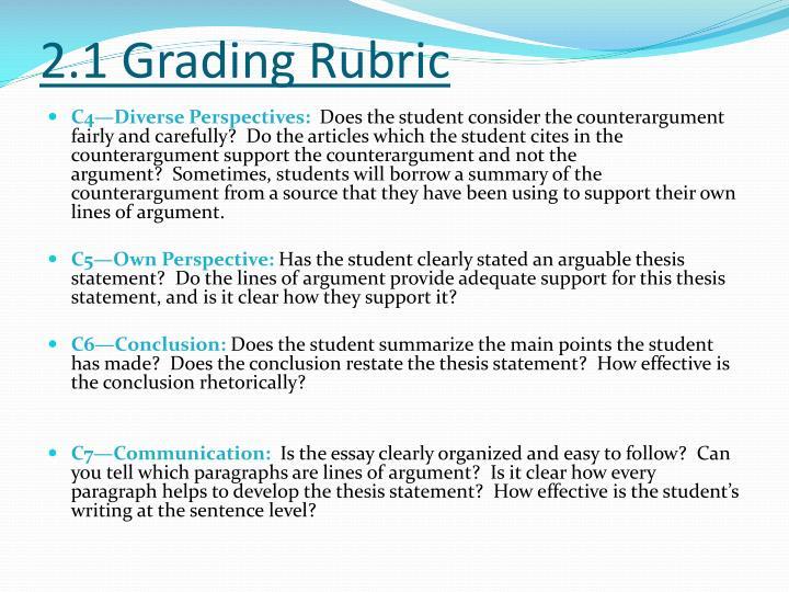 2.1 Grading Rubric