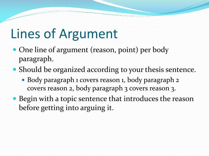 Lines of Argument