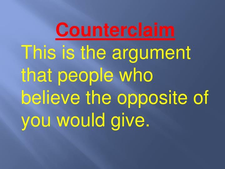 Counterclaim