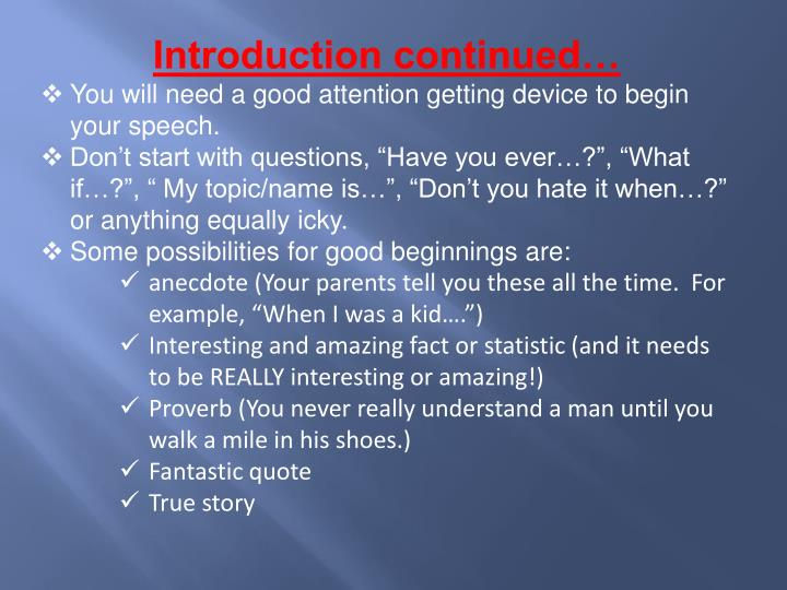 Introduction continued…
