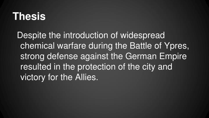 Chemical warfare thesis