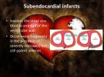 subendocardial infarcts