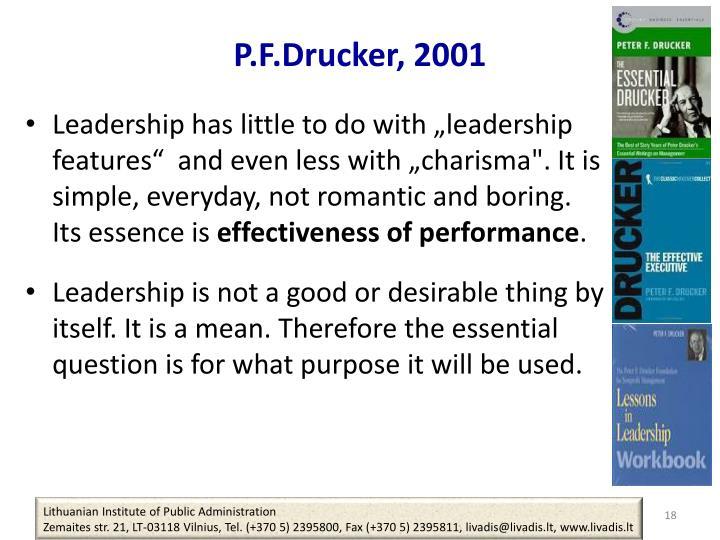 P.F.Drucker