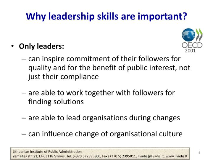 Why leadership skills are important
