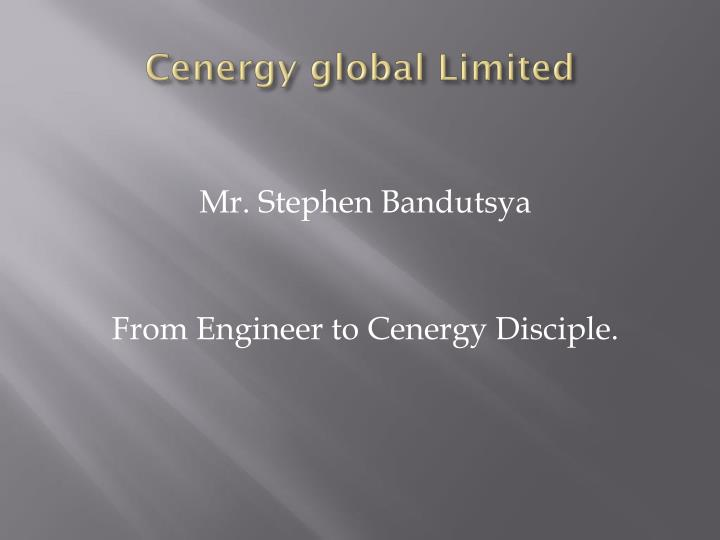 Cenergy global limited