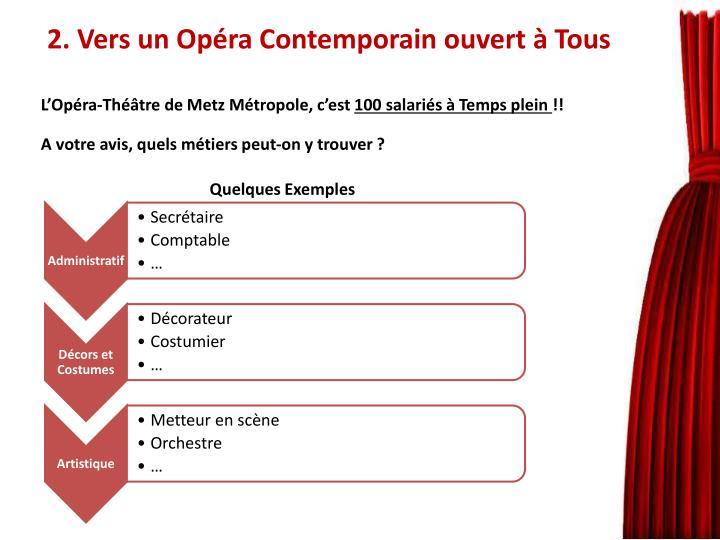 2. Vers un Opéra Contemporain ouvert à Tous