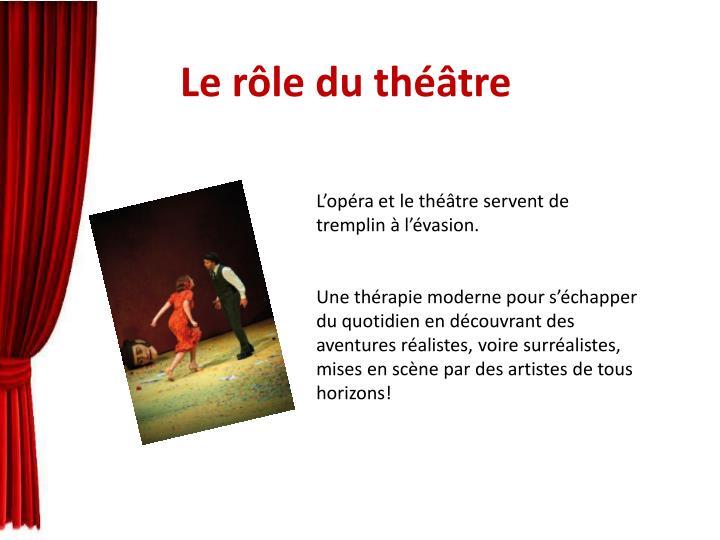Le rôle du théâtre