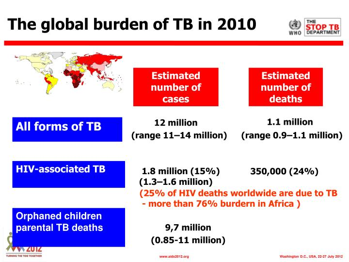 The global burden of TB in 2010