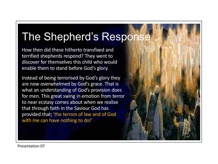 The Shepherd's Response