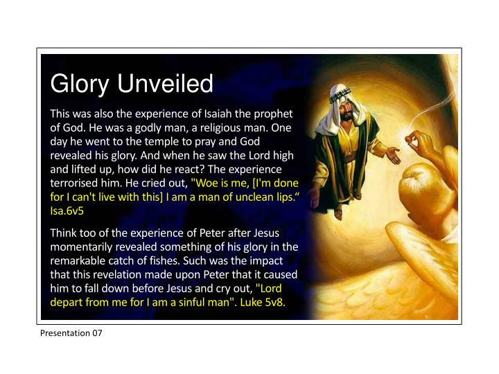 Glory Unveiled