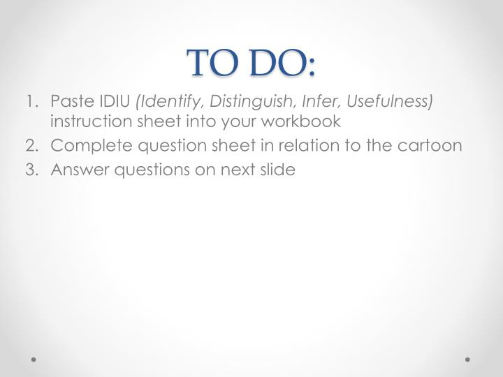 TO DO: