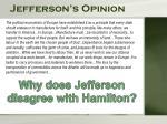 jefferson s opinion
