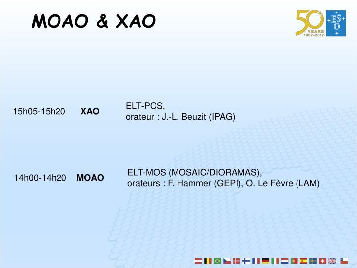 MOAO & XAO